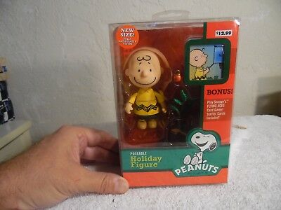 """Charlie Brown With Pathetic Tree Peanuts Poseable Holiday 4"""" Figure Forever Fun"""