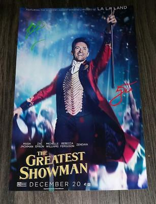 """The Greatest Showman Pp Signed 12""""X8"""" A4 Photo Poster Autographed Hugh Jackman"""