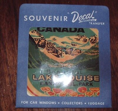Vintage 1960's Canada Travel Souvenir Decal LAKE LOUISE, BANFF