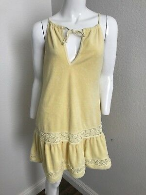 333cdf10aa Juicy Couture Terry Sleeveless Large dress Beach Coverup Cotton Yellow  Duster