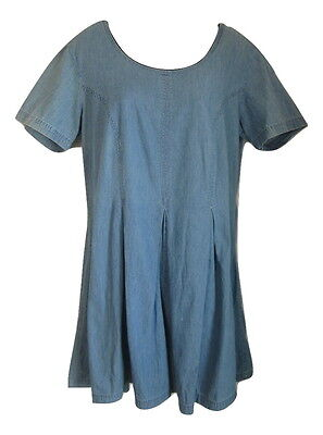 STYLEWORKS Women's Medium Blue Distressed Jean Romper Size 16