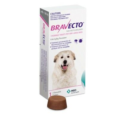Bravecto Purple for Very Large Dogs  40-56kg