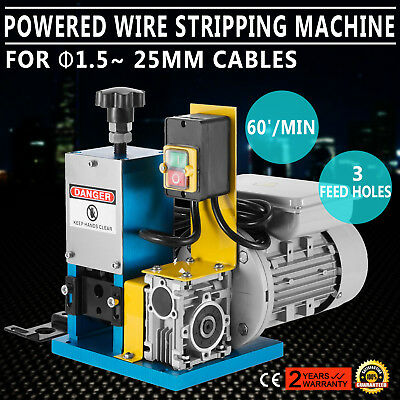 Portable Powered Electric Wire Stripping Machine GOOD PROFESSIONAL FREE SHIPPING
