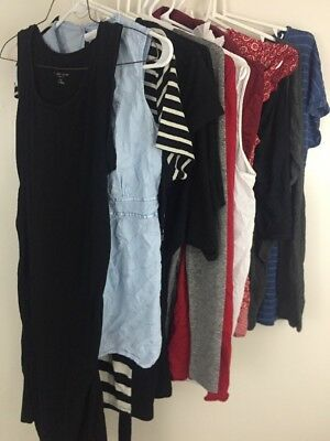 Maternity Clothes Lot Size Small Lot Of 13 Shirt Tops Dresses Casual Motherhood