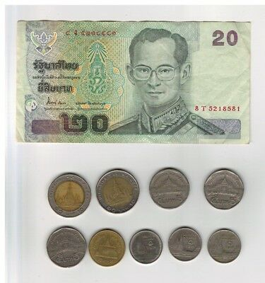 Note and coins from Thailand