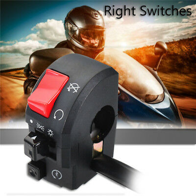 7/8'' Motorcycle Handlebar Switch Control Turn Signal Light Horn Right Side 12V