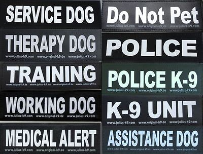 Large Patch for Julius K9 Harness Letters A-K  NEW AGILITY ASSISTANCE DOG