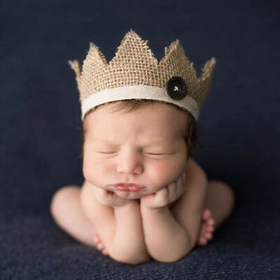 Newborn Photography Props Crown Baby Hairband Photography Accessories Hats Caps