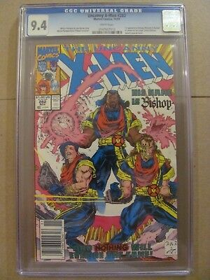 Uncanny X-Men #282 Marvel 1st app Bishop Newsstand Edition CGC 9.4 Near Mint