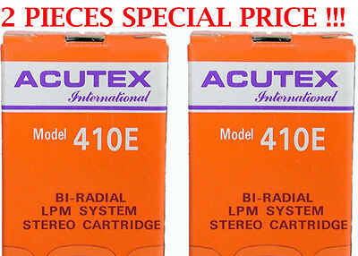 2 Pz. Testine Acutex 410 E Per Giradischi Introvabile Stylus For Turntable Nuove