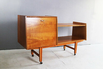 1970's mid century 1960's sideboard / shelf unit for Vinyl/record deck