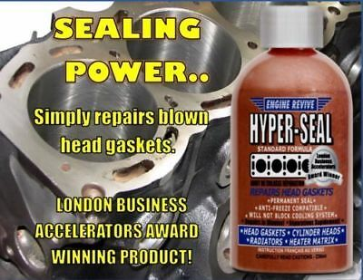 New Hyper Seal Liquid Metal Head Gasket Sealant Repair Petrol Diesel Usa Made