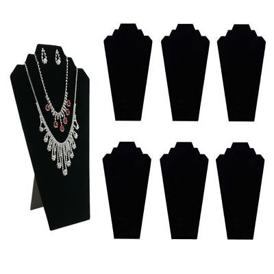 Jewelry Display Stand Black Velvet Necklace Holder Pendant Mannequin 6 Pieces US