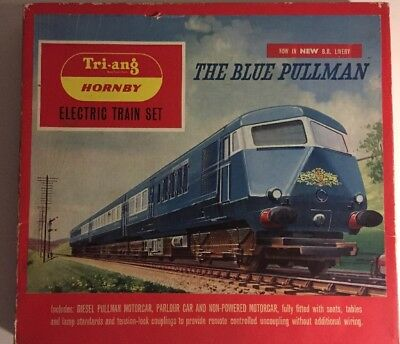 Vintage Triang Hornby Blue Pullman Train Set Rs52 Ho Scale 1971