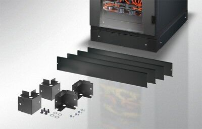 Base 800 x 800 mm for Rack cabinets Black I-CASE PLF-88NLB