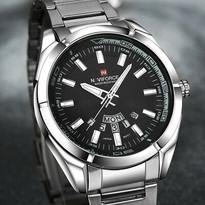 NAVIFORCE luxury Men's Waterproof Stainless Steel Analog Quartz #Wristwatch Date