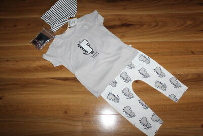 NEXT boys DINO top leggings bib sock outfit 9-12 months NEW *I'll combine postag