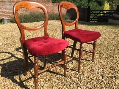 2 Beautiful Vintage Antique Balloon Back Chairs in good condition £15 each
