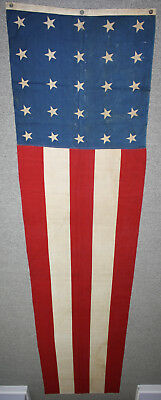 Amazing 12' Vintage Antique 25 Star American Flag Banner Patriotic Old Glory USA