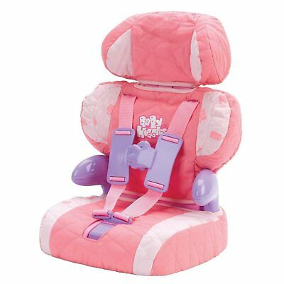 Doll Car Seat & Booster with 3 Point Harness