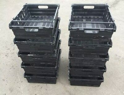 *** SPECIAL OFFER *** 10 x Bail Arm Crates / Bale Arm Plastic Stacking Boxes