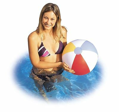 "Inflatable Blowup Panel Beach Ball 16"" Holiday Party Swimming Garden Pool Toy"