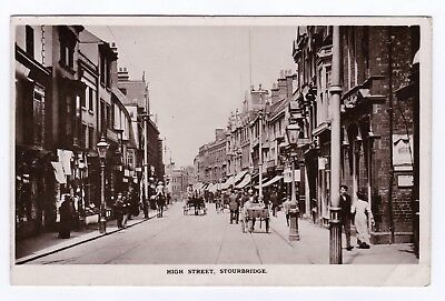 P3810 Original old RP postcard of High Street, Stourbridge, Worcestershire