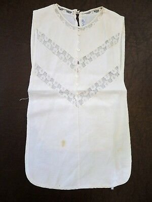 Antique Lace Shirtfront Dickie 1940s or earlier