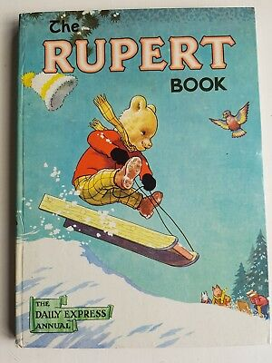 Rupert The Bear Annual 1956..original..not Clipped..paint Contest Untouched. Vcg