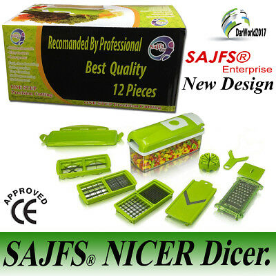 GENIUS Nicer Dicer Plus 10pcs Vegetable Cutter Fruit Slicer 1 Step Precision Cut