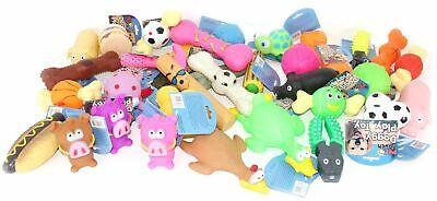 Bulk Pack Assorted Pet Dog Doggy Squeaky Chew Ball Rubber Fetch Toys