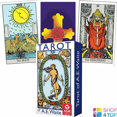 Tarot Of Ae Waite Mini Deck Cards Blue Edition Rosy Cross Telling Agm New