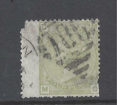 QUEEN VICTORIA 1877 4d SAGE GREEN PLATE 16 USED  SG 153 cat £300