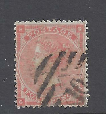 QUEEN VICTORIA 1862 4d PALE RED USED  SG 80 cat £140