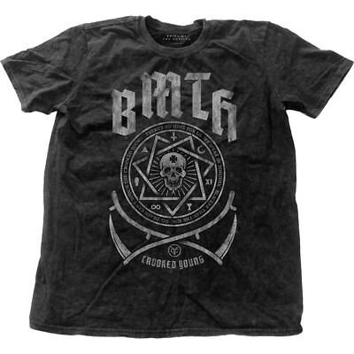 NEW Bring Me The Horizon Men's Fashion Tee: Crooked with Snow Wash Finishing (X-