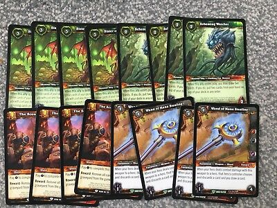 World Of Warcraft TCG Lot / Bundle - Reign of Fire - Commons / Uncommons