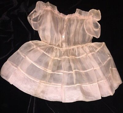 Vintage Pink Sheer Lord & Taylor Baby Childs Dress Made In France