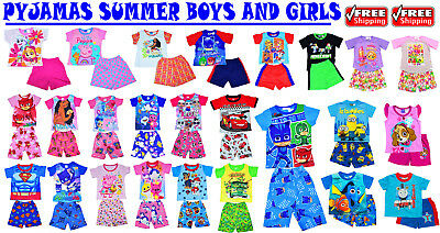 New Sz 1-12 Kids Winter Pyjamas Boys Girls Pjs Sleepwear Nighties Top Child