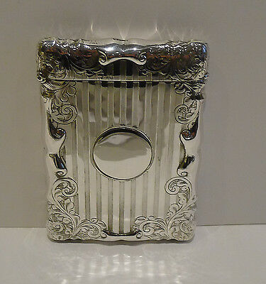 Smart Antique English Sterling Silver Visiting Card Case - 1912