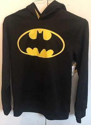 New Pullover Batman Hoodie Boys XXL (18) Black / Yellow Logo.