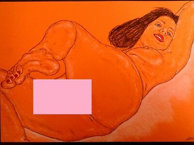 Original Freehand Erotic Drawing - ' Home Alone ' - *see Extra Pic