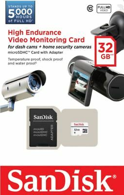SanDisk 32GB High Endurance Video Monitoring Dash Cam Micro SDXC Memory Card