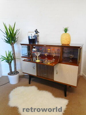 50s 60s Mid Century Retro Vintage Cocktail Drinks Cabinet Bar Sideboard Unit