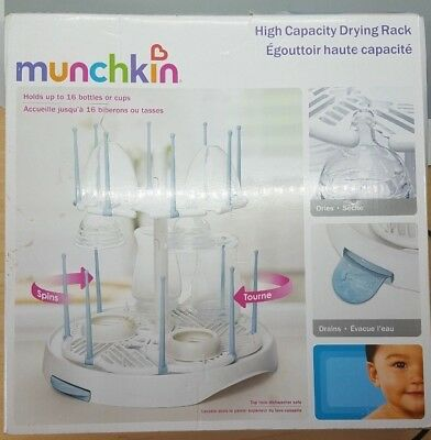 Munchkin High Capacity Baby Bottle Utensil Pump Parts Kitchen Spin Drying Rack