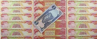 750,000 Un-circulated Iraqi Dinar Bonus 5,000 Dinar note FREE
