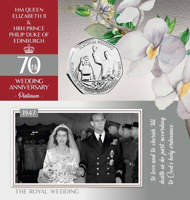 IOM Platinum Wedding Limited Edition Exclusive Proof-Like 2017 50p Coin - Part 7