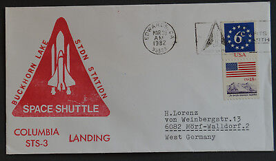 USA Space Cover Space Shuttle Columbia STS-3 Landing Mar 30 1982 Edwards