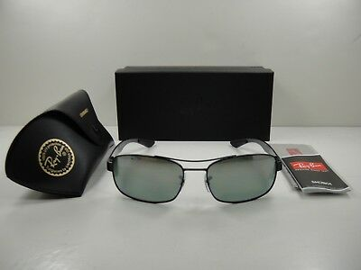 12a4aaca421 Ray-Ban Chromance Polarized Sunglasses Rb8318Ch 002 5L Black grey Mirror  62Mm