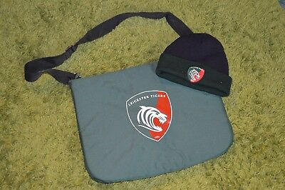Leicester Tigers ~ Stadium Seat Cushion + Wooly Beanie Hat Cap ~ Rugby Union £10