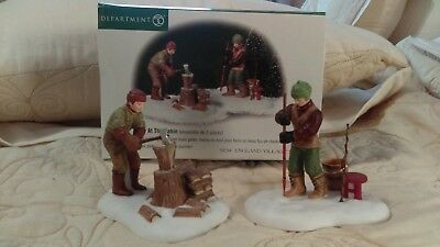 Department 56 christmas village A Day at the Cabin 2 piece set New England